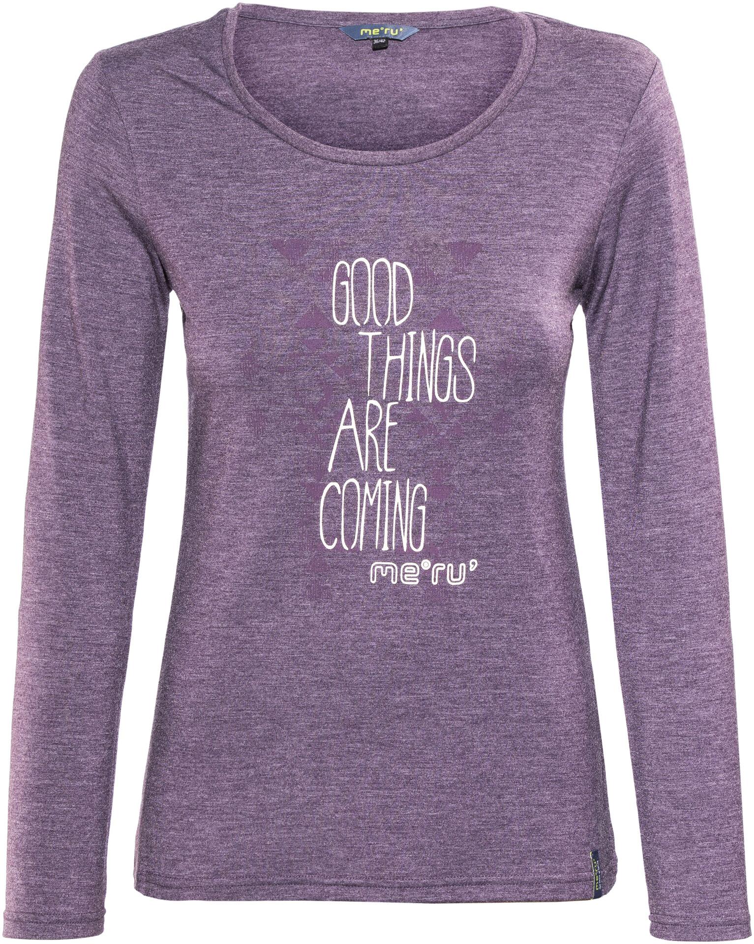 569932d569c5 T violet shirt Femme manches Lidingö Meru sur longues f4Pwn